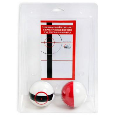 761, Шары бильярдные для тренировок Red & Black Target, 1865, 1390 р., для русского бильярда 68мм, Porter Billiards, Для тренировок
