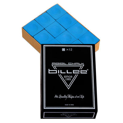 Мел бильярдный Billee Blue 12шт