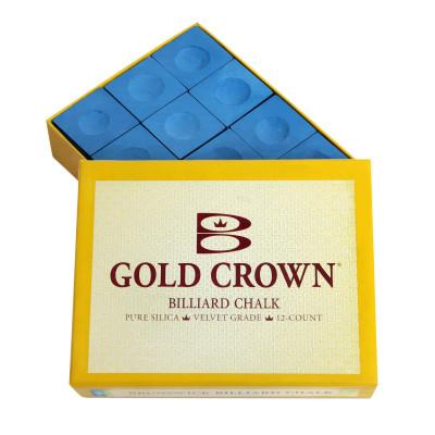 Мел бильярдный Brunswick GoldCrown Blue 12шт