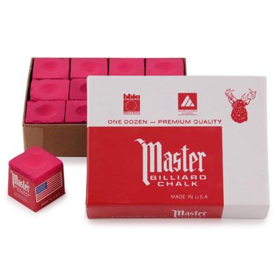 Мел бильярдный Master Red 12шт