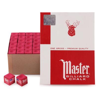 Мел бильярдный Master Red 144шт