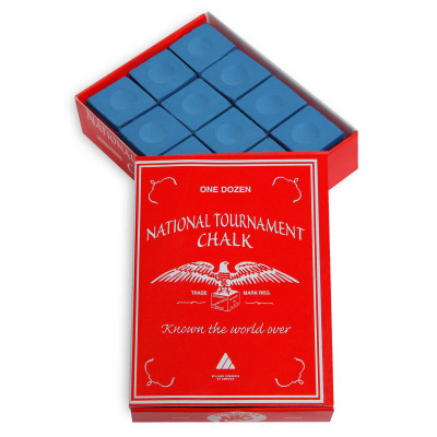 Мел бильярдный National Tournament Blue 12шт