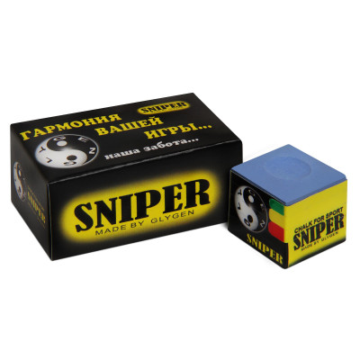 Мел бильярдный Sniper Blue 1шт