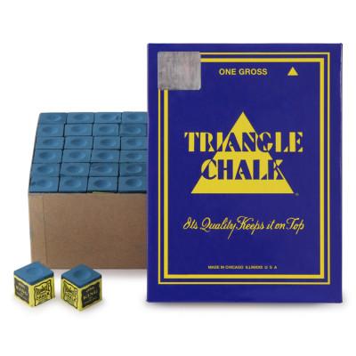 Мел бильярдный Triangle Blue 144шт