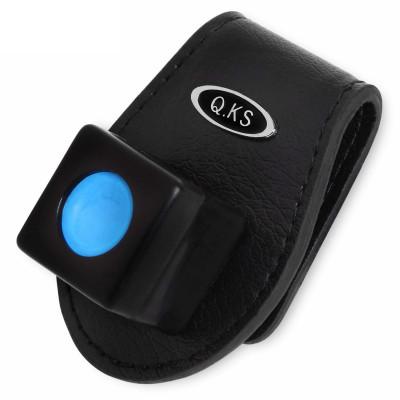 Держатель магнитный для бильярдного мела QK-S X3 Luxe кожаный