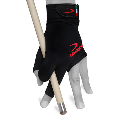 Перчатка для бильярда Longoni Black Fire 2.0 черная L