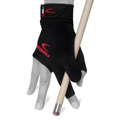 Перчатка для бильярда Longoni Black Fire 2.0 правая черная XL