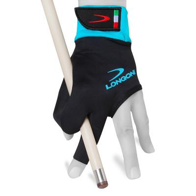 Перчатка для бильярда LongoniSultan 2.0 черная/голубая S