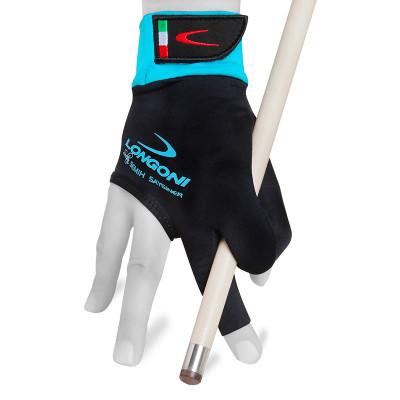 Перчатка для бильярда LongoniSultan 2.0 правая черная/голубая L