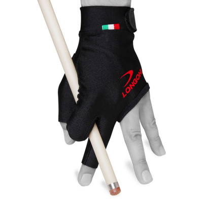 Перчатка для бильярда Longoni Black Fire черная S