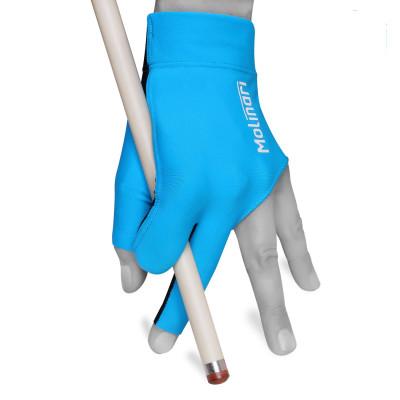 Перчатка для бильярда Molinari голубая безразмерная