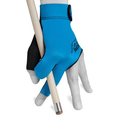 Перчатка для бильярда Predator Second Skin черная/голубая S/M