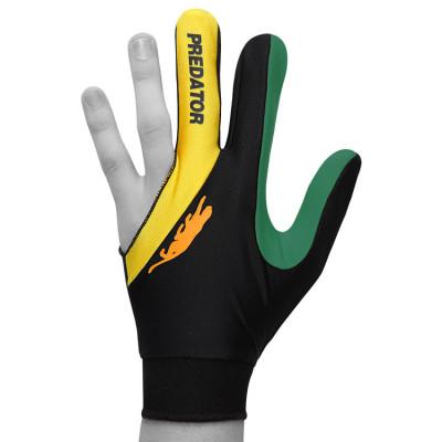 Перчатка для бильярда Predator'sHunter Velcro Multicolor черная/желтая/зеленая безразмерная