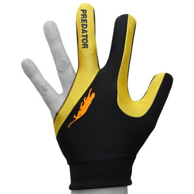 Перчатка для бильярда PredatorsHunter Velcro Multicolor черная/ярко-желтая безразмерная