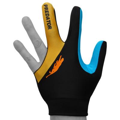Перчатка для бильярда PredatorsHunter Velcro Multicolor черная/желтая/синяя безразмерная