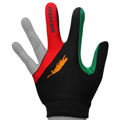 Перчатка для бильярда PredatorsHunter Velcro Multicolor черная/красная/зеленая безразмерная