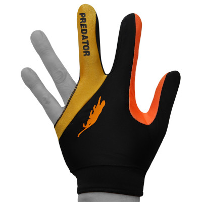 Перчатка для бильярда PredatorsHunter Velcro Multicolor черная/желтая/оранжевая безразмерная