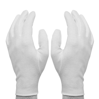 Перчатки для бильярда Skiba Referee судейские 2шт белые M