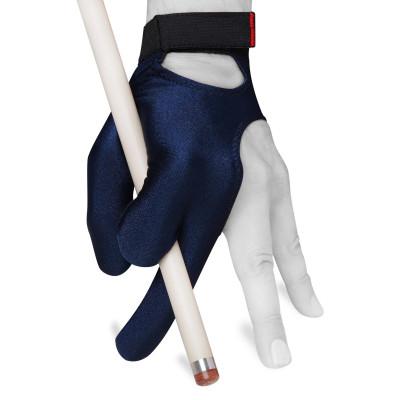 Перчатка для бильярда Skiba Classic Velcro темно-синяя XL