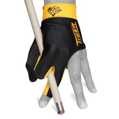 Перчатка для бильярда Tiger Professional Billiard Glove черная/оранжевая M