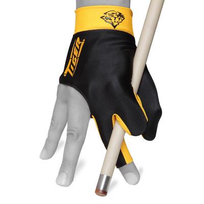 Перчатка для бильярда Tiger Professional Billiard Glove правая черная/оранжевая S