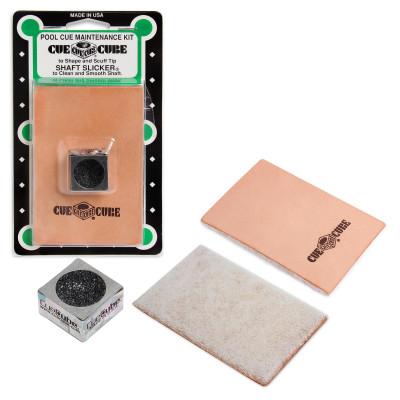 Комплект для чистки кия и обработки наклейки Cue Cube
