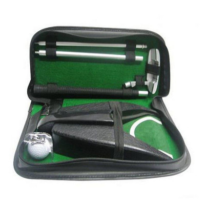 Набор для мини-гольфа Partida c автоматической лузой в кожаном кейсе