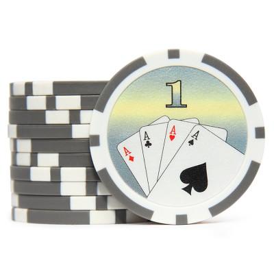 Фишки для покера Cards 1 серые 40 мм 14 г 25 шт