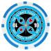 Фишки для покера Tournament Pro 10 с голографическими наклейками голубые  40 мм 14 г 25 шт