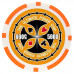 Фишки для покера Tournament Pro 5000 с голографическими наклейками оранжевые  40 мм 14 г 25 шт