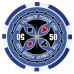 Фишки для покера Tournament Pro 50 с голографическими наклейками синие  40 мм 14 г 25 шт