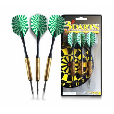 Дротики для дартса Start Line 3018 16г 3шт зеленые