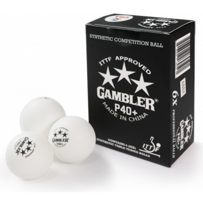 Мячи для настольного тенниса Gambler p40+ 1* 6 шт
