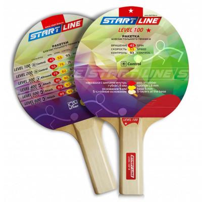 Ракетка для настольного тенниса Start Line Level 100-1* Прямая  за 250.00 руб.