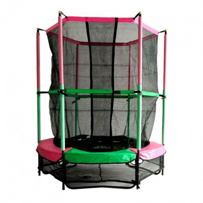 Батут DFC Jump Kids 55DM 137см зеленый/розовый