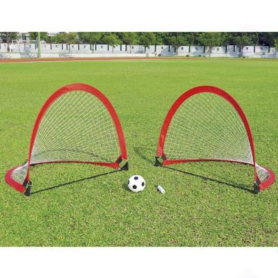 Футбольные ворота DFC FoldableSoccer красные 2 шт